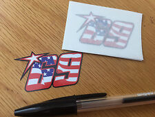 Nicky Hayden No69 American Flag Race Numbers (Very Small Pair)