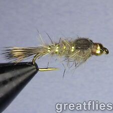 1 дюжин (12) - Золотой ребристый заяц ухо-бусина голова