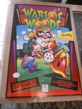 Wario's Woods Nintendo Poster Promotional Video Game Store Not Mario Wario Promo