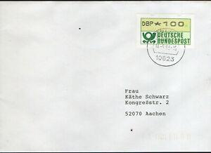 ATM BRD,Mi 1 F,Berlin 14.9.93,,Fehldruck Nagler auf 1.Papier,gelaufen codiert