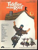 "Easy Piano aus "" Fiddler on the Roof "" von Dan Coates"
