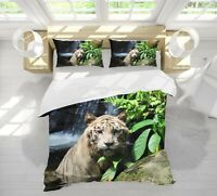 3D Tiger Stone A157 Animal Bed Pillowcases Quilt Duvet Cover Set Queen King Zoe