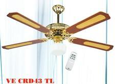 Ventilatore a soffitto da parete telecomando luce lampada Dcg vecrd43tl - Rotex