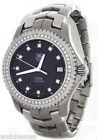 Tag Heuer Men's Link Black Diamond Dial Stainless Steel Swiss Watch WJ1117-0