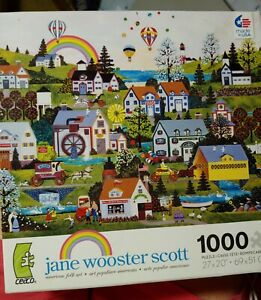 """2011  Jane Wooster Scott 1000 pieces 3346-5 """"Somewhere Over The Rainbow"""" NEW"""