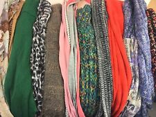 Lot of 10 very pretty Infinity Scarves Scarf Lot For Summer Into Fall Winter