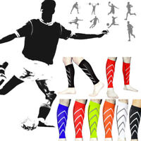 Pair Calf Support Graduated Compression Leg Sleeve Sports Socks Outdoor Exercise