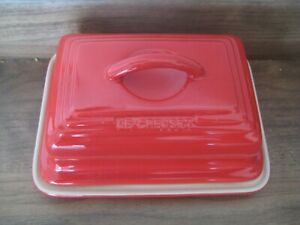 Le Creuset Cerise Red Stoneware Butter Dish with Lid 12-47
