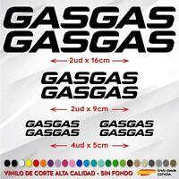 7X PEGATINAS GASGAS STICKER VINILO MOTO AUFKLEBER AUTOCOLLANT GAS GAS COLORES