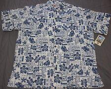 Hilo Hatties 3xl Hawaiian Print Aloha Casual Dress Shirt