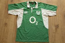 IRFU Ireland Union Rugby Shirt Jersey Camiseta Maglia Cotton CANTERBURY Size M
