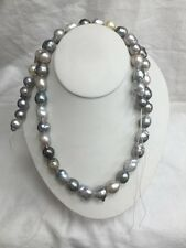 Tahitian Baroque Multicolor Pearls 52 Pieces 29.5 Inches Long 12-13.5mm