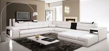 VIG Contemporary Divani Casa Polaris White Bonded Leather Corner Sectional Sofa