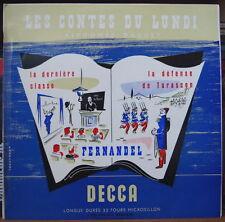 ALPHONSE DAUDET/FERNANDEL LES CONTES DU LUNDI RARE 25cm FRENCH  LP MINT !!!!