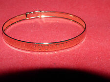 BABY /SMALL CHILD BANGLE FOOTPRINTS LOVELY GIFT CHRISTENING BIRTH BOY GIRL