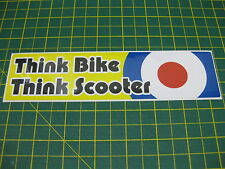 1 THINK BIKE THINK SCOOTER STICKER v002