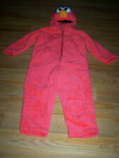 Size 3-4T Sesame Street Tickle Me Elmo Plush Halloween Costume Giggle Sounds EUC