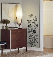 JAZZY JACOBEAN GiaNT WALL DECALS Black Silver Gold Stickers Floral Home Decor