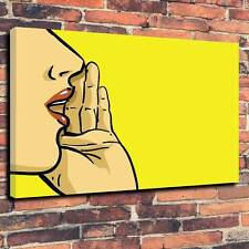 "POP ART ""Shout"" stampato in tela stampa A1.30""x20"" ~ Deep 30mm Telaio"