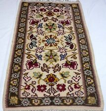 """Antique vintage unique handmade hand-knotted rug 32""""x 63"""" pure wool #120"""