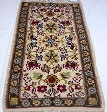 "Unique European vintage antique handmade rug 32""x63"" (82cm x160 cm)100%wool #120"
