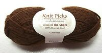 New WOOL OF THE ANDES Chestnut Brown Peruvian Wool 50 Grams Skein Knit Picks