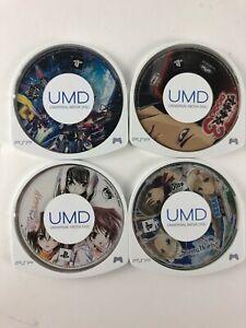 Lot Of 4 Sony PSP Japanese Import Games Danball Senki W Memories Off #5 Encore