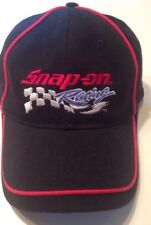 Snap On Tools Black Racing Cap With Red Ribbed Trim