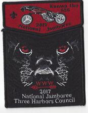 2017 National Jamboree OA Lodge 636 Kanwa tho Two-Piece Flap Blk Bdr (OANJ292)