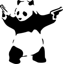 "Stick'em up Panda Vinyl Decal ""Sticker"" For Car or Truck Windows, Laptops, etc"