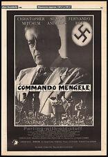 COMMANDO MENGELE__Original 1986 Trade AD / poster__HOWARD VERNON__FERNANDO REY