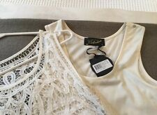 Decjuba white lace dress & Matching Slip Size 8 - Stunning Detail  BRAND NEW