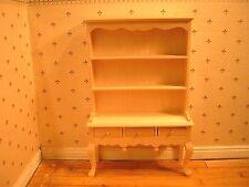 1/12th Dollshouse Miniature Barewood 3 Drawer Queen Anne Dresser