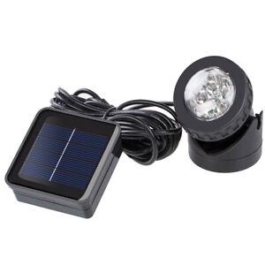 Solar Spotlights 6 LED Underwater Projection Lights Garden Outdoor Pond Lighting