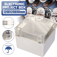 120x120x90mm Waterproof Clear Electronic Project Box Enclosure Case Plastic #