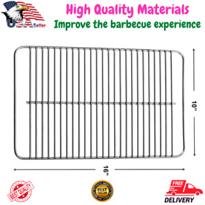 """16""""x10"""" Stainless Steel Cooking Grate for Weber Go-Anywhere, Fits Charcoal & Gas"""