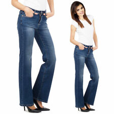 Cotton Bootcut Jeans Women's L32 Faded