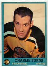 1X CHARLIE BURNS 1962 63 Topps #15 EX+ Boston Bruins