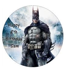 24 X Oro Comestible Cupcake Toppers Cumpleaños Batman Torta Papel Arroz Premium 8820