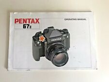 Pentax 67II Camera Manual Instruction Booklet
