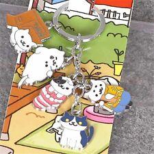 Neko Atsume ねこあつめ Kitty Collector Tubbs Lexy Metal Pendant Keychain Charm