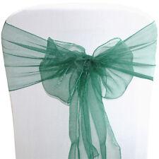 Organza Chair Sashes Wraps Wedding Seat Bow Prom Venue Decor Venue Sash Ribbons