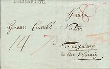 Schweiz, 1831, B.o.M. Brief, Coire Route auf Faltbrief nach Freyburg