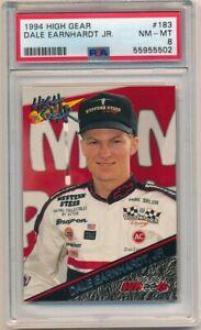 DALE EARNHARDT JR 1994 HIGH GEAR #183 RC ROOKIE CARD PSA 8 NM-MT $400+