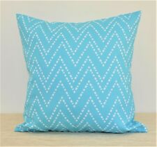 "Aqua/Turquoise WATERPROOF OUTDOOR Throw Pillow cover 18"" Patio Pillow ""Oceana"""