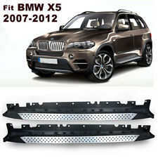 For 2007-2013 BMW X5 E70 Aluminum Side Step Bars Running Boards Pair Silver
