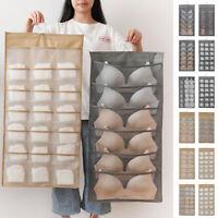 15/24/30 Pocket Hanging Bag Socks Bra Underwear Rack Hanger Storage Organizer X1