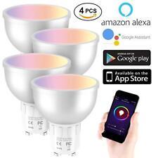 4x GU10 5W Smart Bulb Wireless WiFi APP Remote Control for Alexa Google Home UK