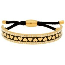 Halcyon Days Heart Sparkle Black & Gold Friendship Bangle - New RRP £120