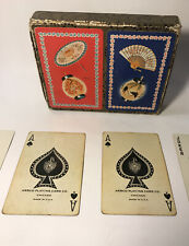 Vintage Playing Cards Asian Themed - 2 Full Decks with Jokers - Cover Sleeve